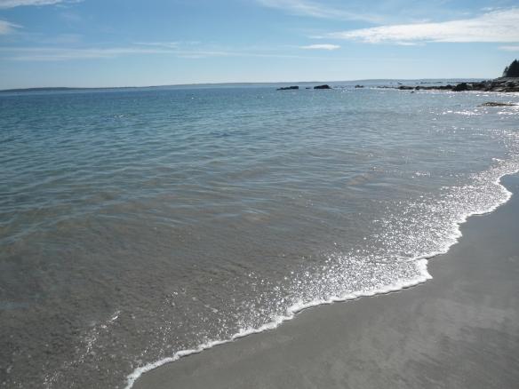 La plage de Hunts Point, où j'ai certainement marché 100 kilomètres en 1semaine.