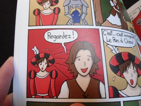 Dans les aventures de Gontrand, je joue le rôle de Lisette la Paysanne.